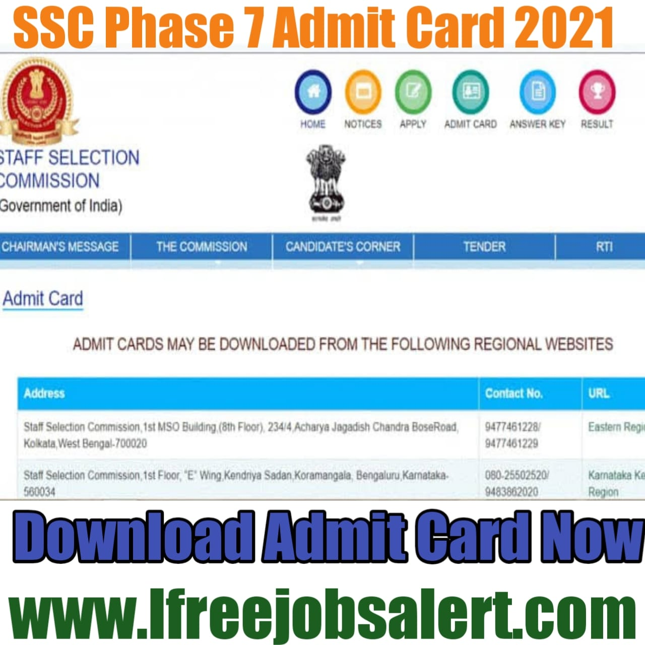 SSC Phase 7 admit card
